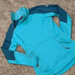 Spyder teal jacket.